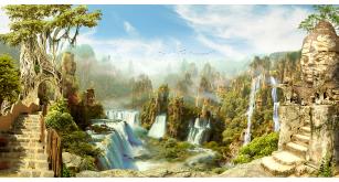 Фотоoбои Водопады 50 (Р-68)