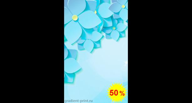 Фотообои - 3D Голубые цветы